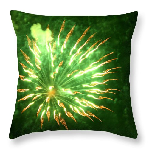 Abstract Throw Pillow featuring the photograph Bird Of Paradise by David Dunham