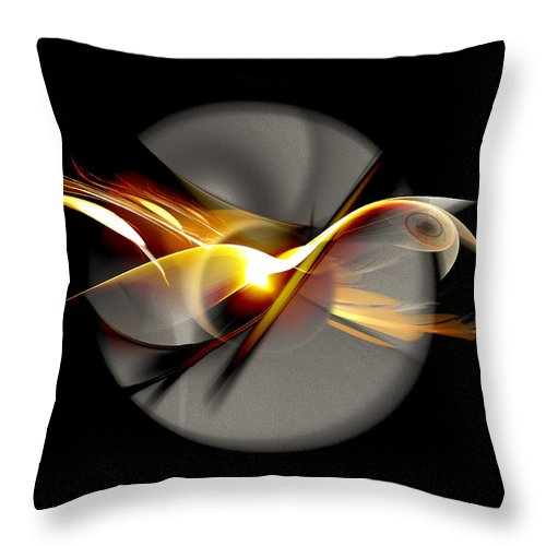 Bird Throw Pillow featuring the digital art Bird Of Passage by Aniko Hencz