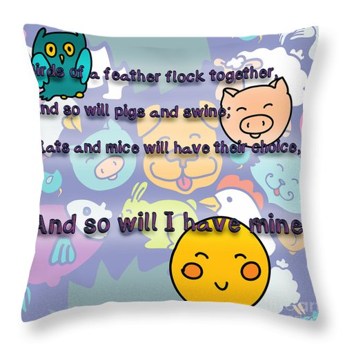 Birds Of A Feather Flock Together Throw Pillow For Sale By Humorous