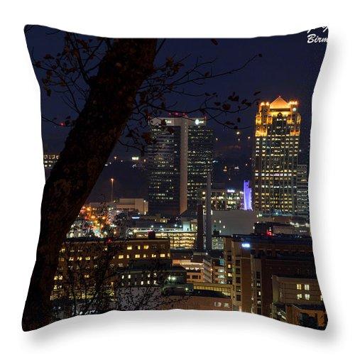Downtown Birmingham Al Throw Pillow featuring the photograph Birmingham Skies by Jeffery Gordon