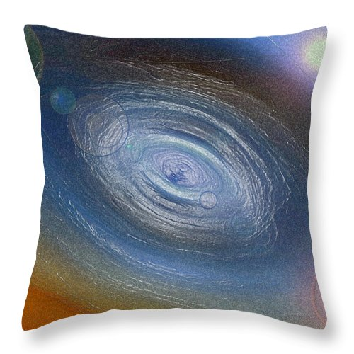 Solar System Throw Pillow featuring the photograph Birth Of A Universe by Donna Proctor