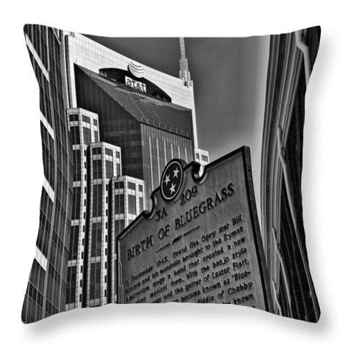 Bluegrass Throw Pillow featuring the photograph Birth Of Bluegrass by Sheri Bartoszek