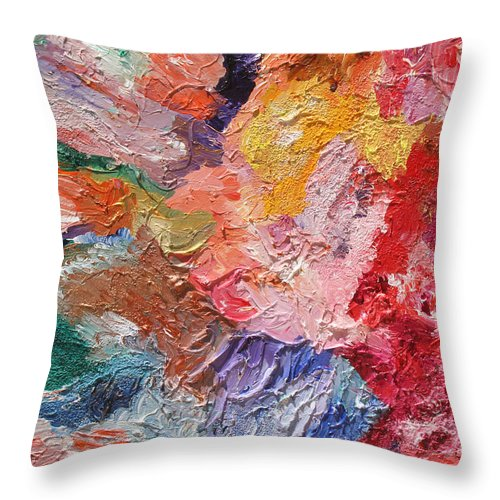 Fusionart Throw Pillow featuring the painting Birth of Passion by Ralph White