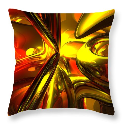 3d Throw Pillow featuring the digital art Bittersweet Abstract by Alexander Butler