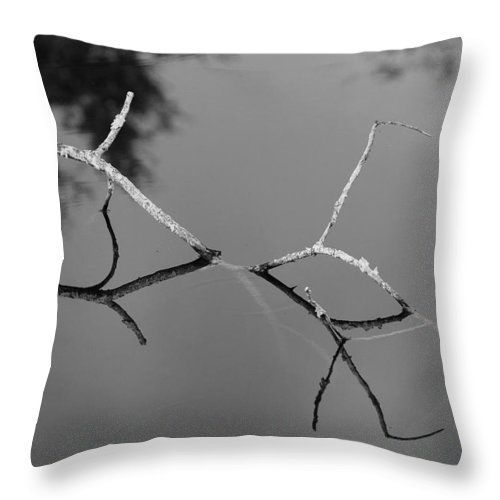 Black And White Throw Pillow featuring the photograph Black And White Bridge by Rob Hans