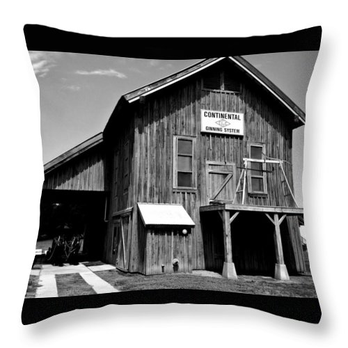 Gin Throw Pillow featuring the photograph Black And White Gin by Brad Lindsey