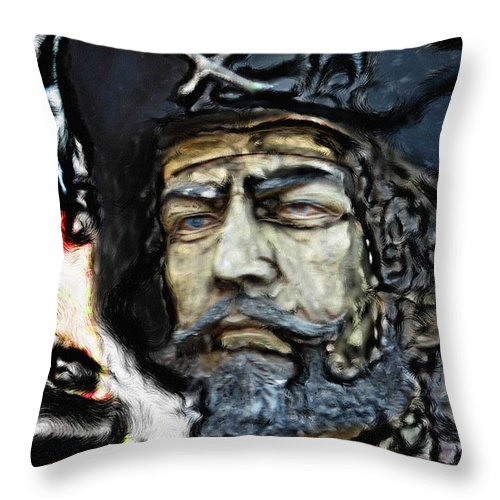 Ebsq Throw Pillow featuring the photograph Black Beard by Dee Flouton