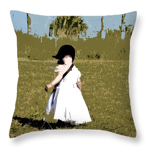Child Throw Pillow featuring the painting Black Bonnet by David Lee Thompson