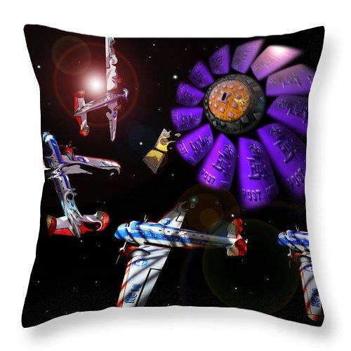 Scifi Throw Pillow featuring the digital art Black Dwarf by Charles Stuart