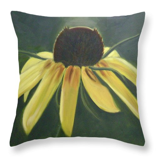Flower Throw Pillow featuring the painting Black Eyed Susan by Toni Berry