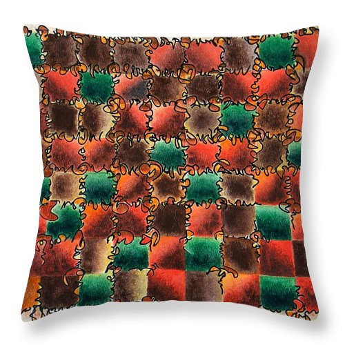 Abstract Throw Pillow featuring the painting Black Forest Cake by Dave Martsolf