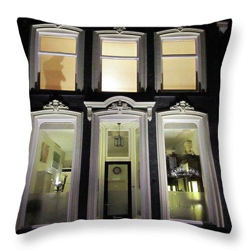 Voyeur Throw Pillow featuring the photograph Black House by Kat Cortez