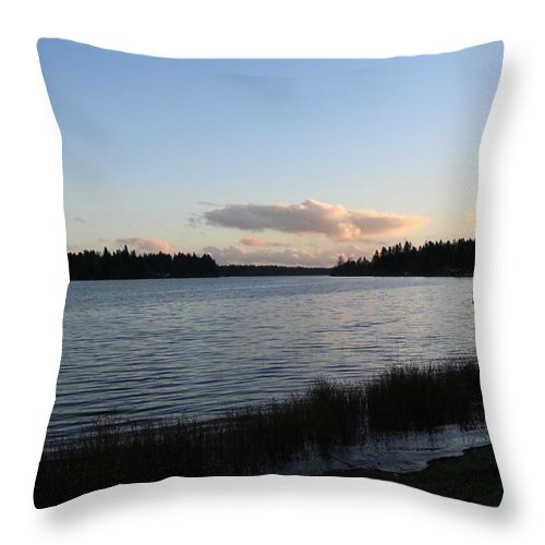 Sunset Throw Pillow featuring the photograph Black Lake by Dani Keating