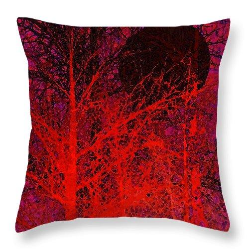 Digital Art Throw Pillow featuring the digital art Black Moon by Richard Rizzo