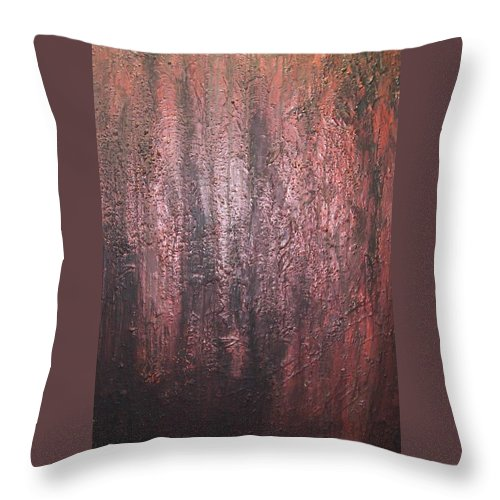 Abstract Throw Pillow featuring the painting Black No 1 by Elizabeth Klecker