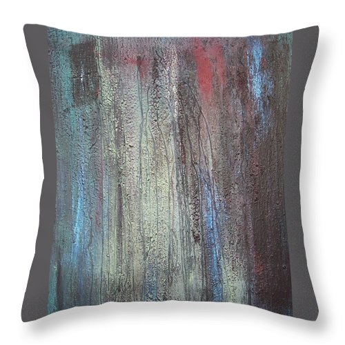 Paintings Throw Pillow featuring the painting Black no 2 SOLD by Elizabeth Klecker