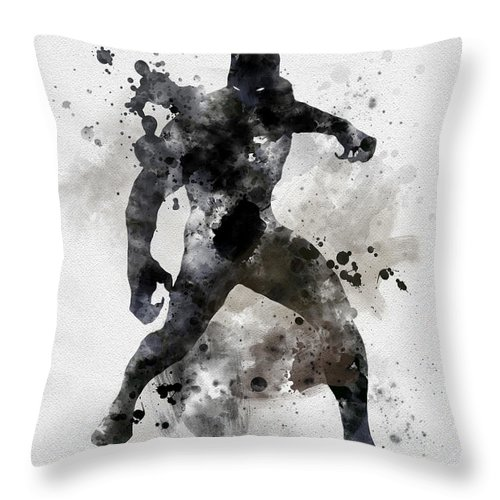 Black Panther Throw Pillow featuring the mixed media Black Panther by My Inspiration