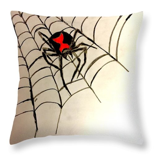 Black Widow Spider Throw Pillow For Sale By Shylee Charlton