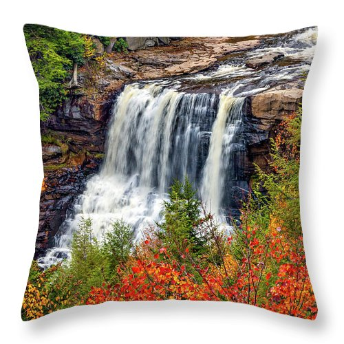 West Virginia Throw Pillow featuring the photograph Blackwater Falls by Steve Harrington