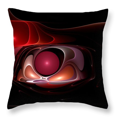 Abstract Throw Pillow featuring the digital art Blade Runner by Casey Kotas