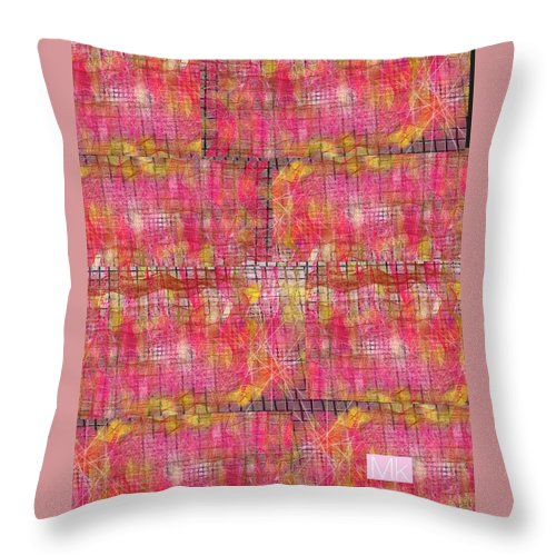 Textile Throw Pillow featuring the digital art Blanket by Mary Jo Hopton