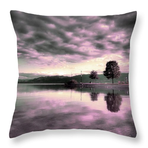 Clouds Throw Pillow featuring the photograph Blanketed by Tara Turner