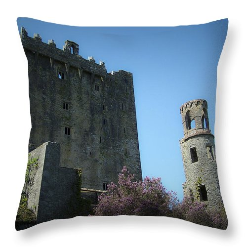 Irish Throw Pillow featuring the photograph Blarney Castle And Tower County Cork Ireland by Teresa Mucha