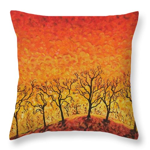 Fire Throw Pillow featuring the painting Blaze by Caroline Street