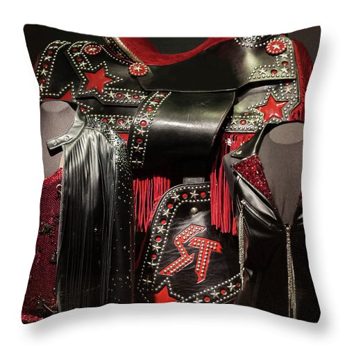Nashville Throw Pillow featuring the photograph Blazing Saddle by Ron Dubreuil