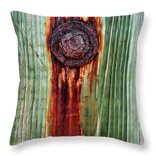 Bolt Throw Pillow featuring the photograph Bleeding Bolt by Christopher Holmes