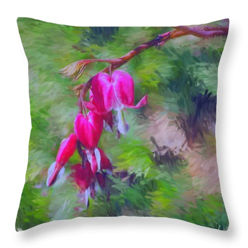 Daffodil Throw Pillow featuring the photograph Bleeding Heart by David Lane