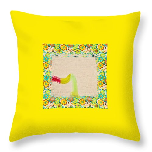 Abstract Throw Pillow featuring the photograph Blended Bag by Alwyn Glasgow