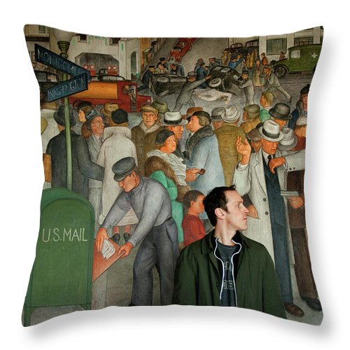 Chris Throw Pillow featuring the photograph Blending In by Greg Fortier