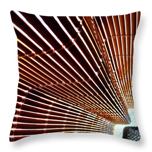 Blind Throw Pillow featuring the photograph Blind Shadows Abstract I I by Kirsten Giving