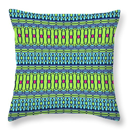 Pattern Throw Pillow featuring the digital art Bling2 by Ceil Diskin
