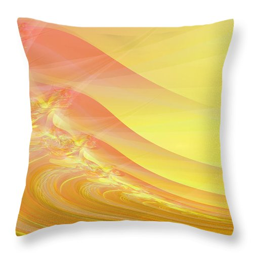 Dunes Throw Pillow featuring the digital art Bloody Dunes by Frederic Durville