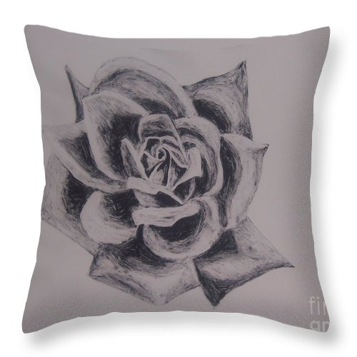 Rose Throw Pillow featuring the painting Bloom by Emily Young