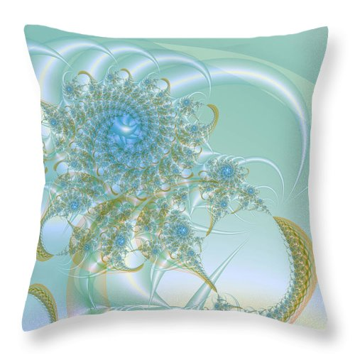 Abstract Throw Pillow featuring the digital art Blooming Nebulae by Frederic Durville