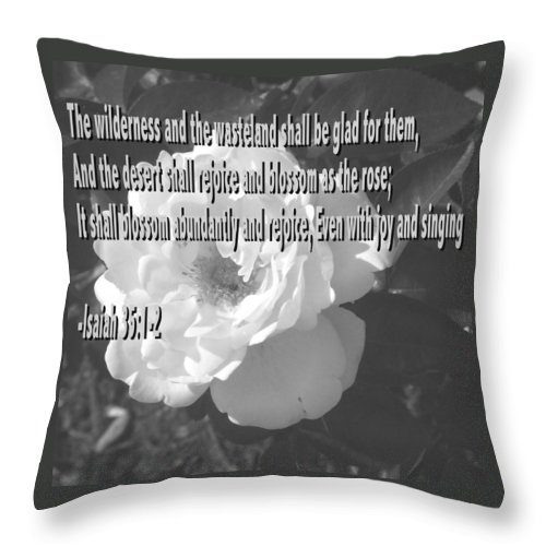 Christian Throw Pillow featuring the photograph Blossom As The Rose by Pharris Art