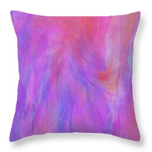 Digital Art Throw Pillow featuring the digital art Blossom by Linda Murphy