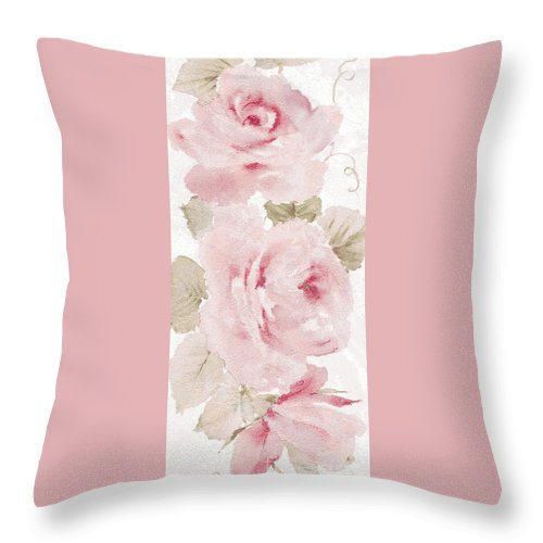 Writermore Throw Pillow featuring the mixed media Blossom Series No.5 by Writermore Arts