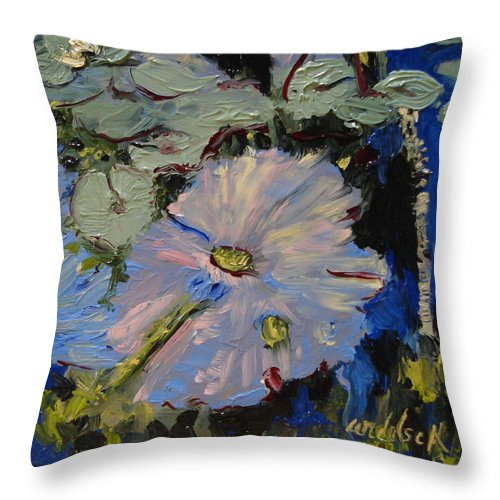 Water Throw Pillow featuring the painting Blu II by Barbara Andolsek