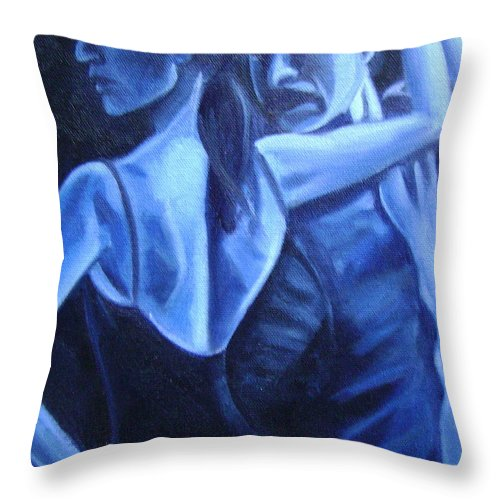 Throw Pillow featuring the painting Bludance by Toni Berry