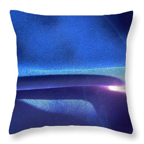 Abstract Throw Pillow featuring the photograph Blue 107 by Stephanie Moore