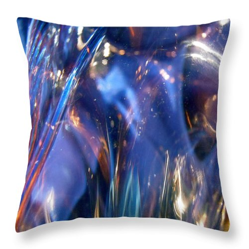 Abstract Throw Pillow featuring the photograph Blue 160 by Stephanie Moore