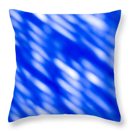 Abstract Throw Pillow featuring the photograph Blue Abstract 1 by Tony Cordoza