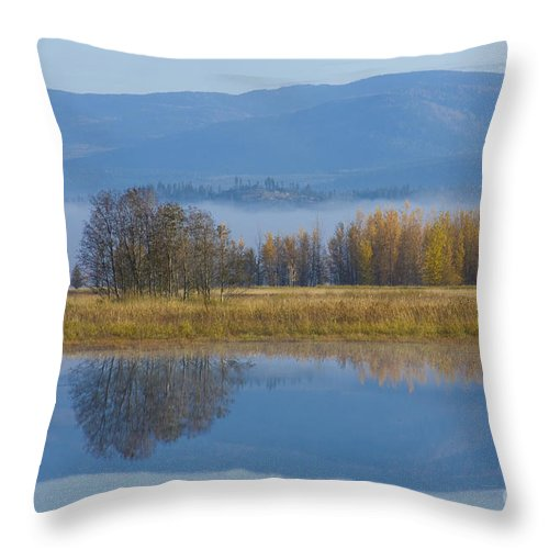Blue Throw Pillow featuring the photograph Blue And Gold by Idaho Scenic Images Linda Lantzy