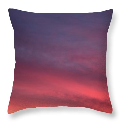 Sunset Throw Pillow featuring the photograph Blue And Orange Sunset by Nadine Rippelmeyer