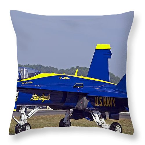 Jet Throw Pillow featuring the photograph Blue Angel by Kenneth Albin