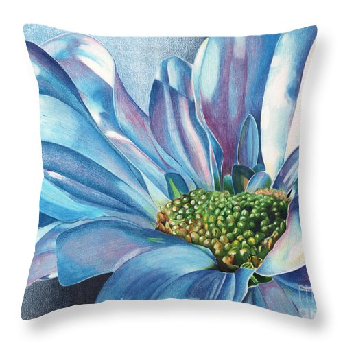 Blue Throw Pillow featuring the painting Blue by Angela Armano